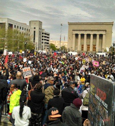 Rally+outside+city+hall-400x441