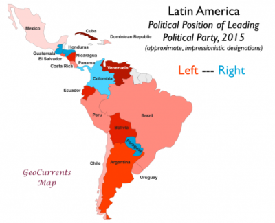 Political Map Of America 2016.Latin America Political Spectrum Map 1024 833 400 325 Counter