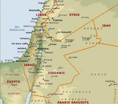 Carte Jordanie Israel.Syrie Jordanie Carte 400 354 Counter Information