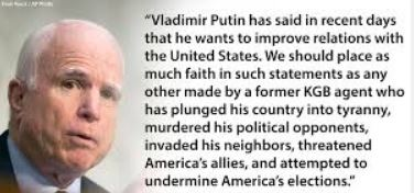John Mccain On U S Russia Relations Counter Information